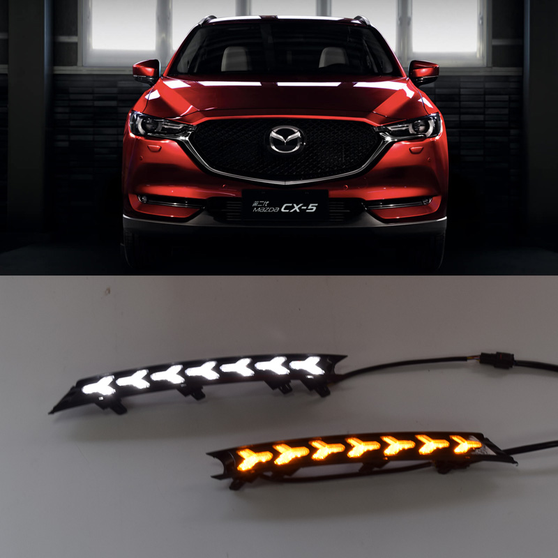 QINYI For Mazda CX 5 CX5 2017 2018 Car DRL 12V LED Daytime Running Light With