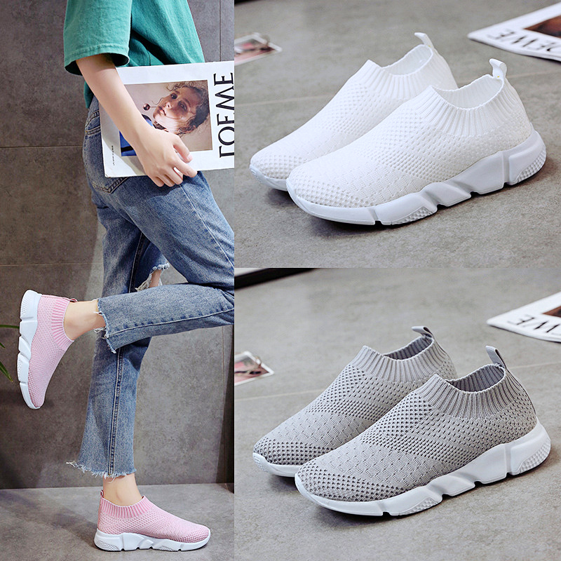 HTB1vFoMaXzsK1Rjy1Xbq6xOaFXax Rimocy plus size breathable air mesh sneakers women 2019 spring summer slip on platform knitting flats soft walking shoes woman