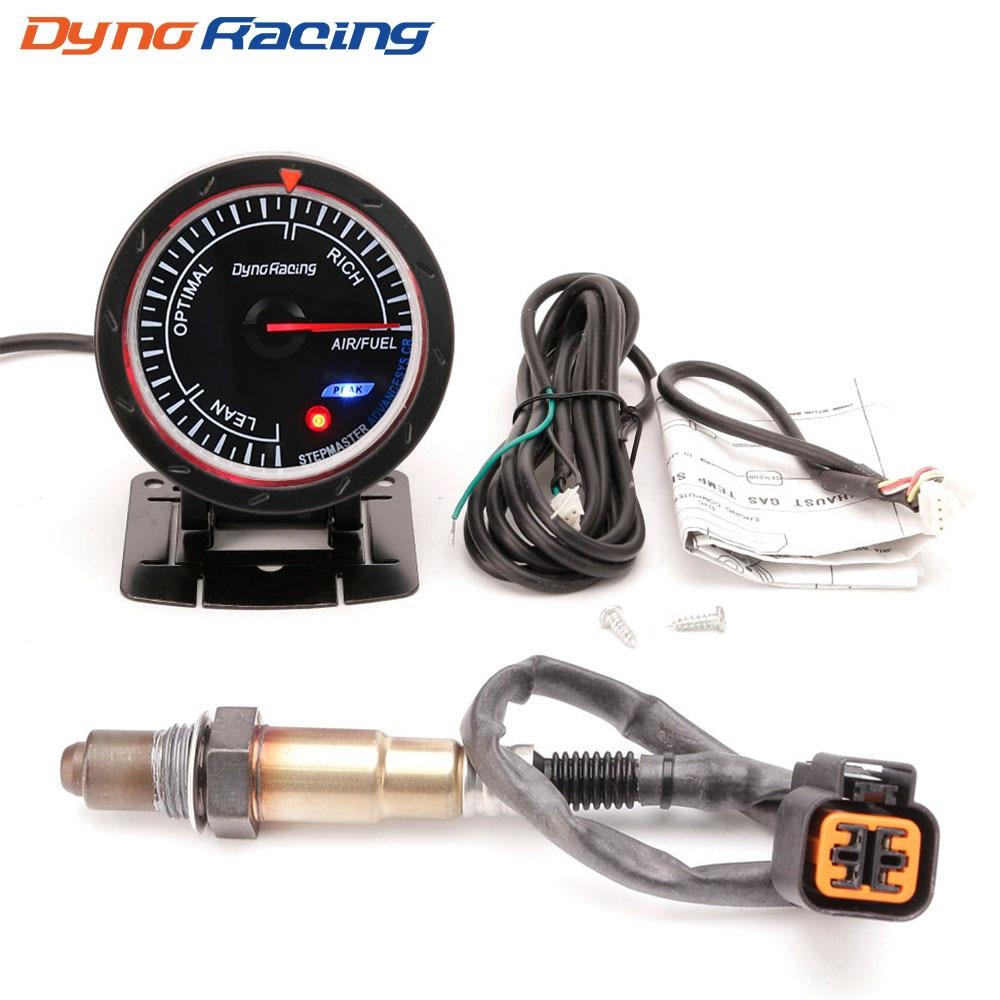 Dynoracing 60 MM 12 V jauge de rapport de carburant d'air de voiture avec capteur d'oxygène à bande étroite avant pour 1999-2010 Hyundai Accent