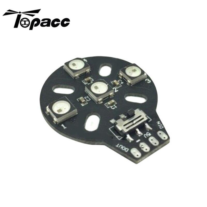 4xws2812b 5 В Двигатель База свет один ПК для naze32 F3 cc3d полета Управление для RC Аксессуары для видео-квадрокоптеров