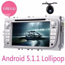 Android 5.1.1 Car DVD GPS for Ford Focus 2012 2013 2014 Mondeo with Dual Core BT Radio RDS Wifi 3G steering wheel control+CAMERA