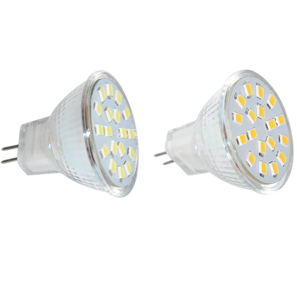 JYL 10PCS Warm White 12V DC G4 MR11 18*Led Light Bulb 2835 SMD LED 2W Home Energy Saving Spotlight