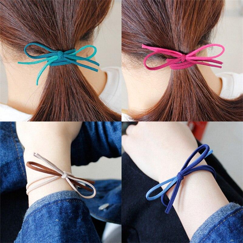 40pcs Fashion Womens Hair Bows Elastic Hair Bands For Women Cute Designers Ponytail Hold ...