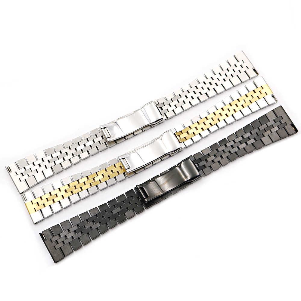 Rolamy 20 millimetri Watch Band Solido 316L di Ricambio In Acciaio Inox Da Polso Vigilanza Del Braccialetto Della Cinghia Per Dayjust Daytona MILGAUSS Commercio All'ingrosso