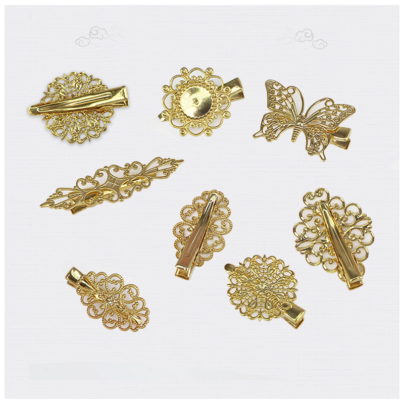 Barrette Hairpins Jewelry Bride Butterfly Gold Cosplay Vintage Findings Metal Fashion