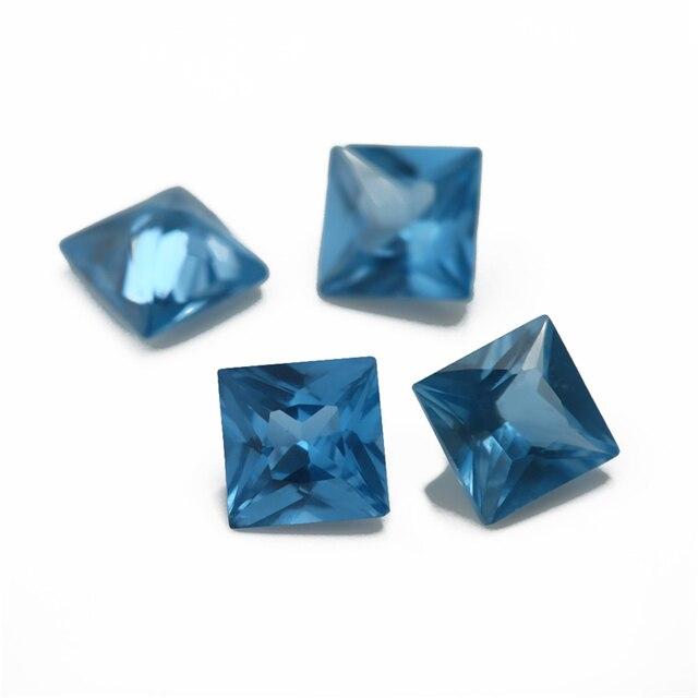 Размер 3x3 мм ~ 10x10 синяя квадратная форма фотоэлемент украшений