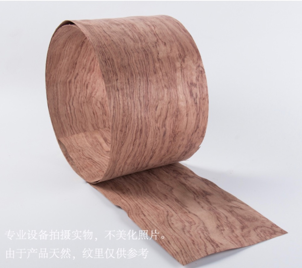 1Piece L:2.5Meters Width:200mm  Thickness:0.52mm   Natural Brazil Red Mahogany Pear Wood Veneer