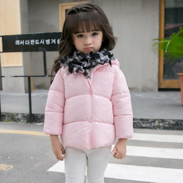 ed89a717634c Autumn Jackets Winter Jacket Baby Outerwear Children Girls Printed ...