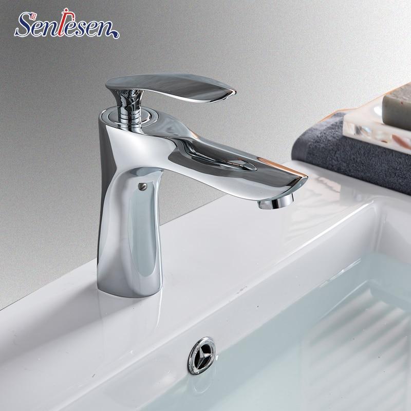 Senlesen Golden Basin Faucet Single Handle Mixer Tap Hot Cold Water Mixer Tap Bathroom Vessel Sink Faucet Torneira Banheiro мультиварка marta mt 1937 черный сталь 900 вт 5 л