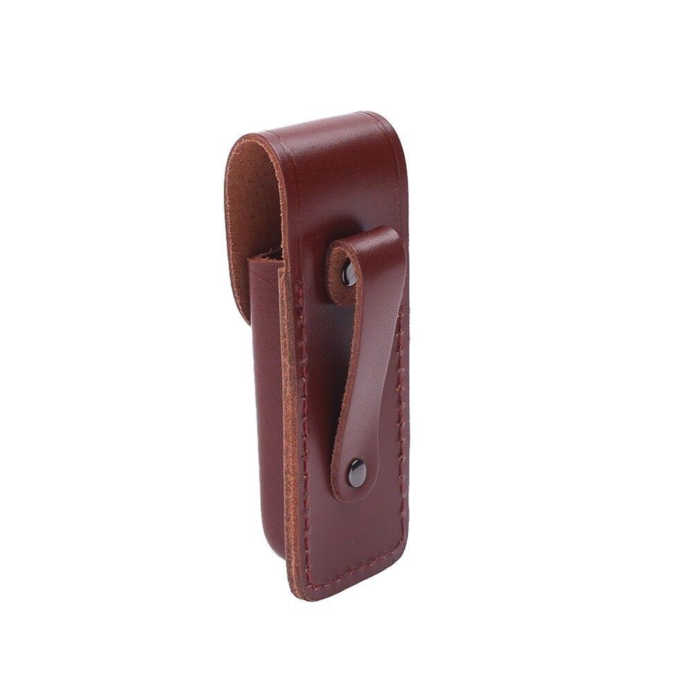 """5/"""" Multi Herramientas De Cuero Real Vaina De Cuchillo Plegable Protector para llevar de viaje"""