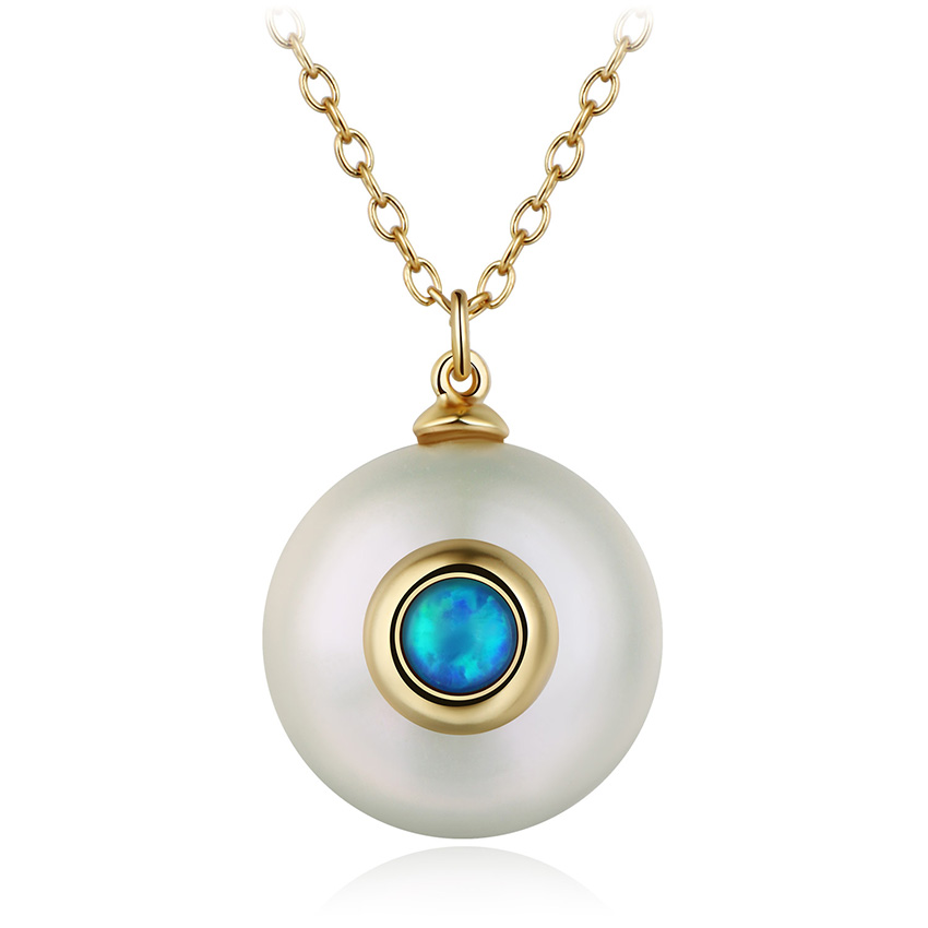 HTB1vFpyXUrrK1RkSne1q6ArVVXau Hongye 2019 New Fashion Freshwater Pearl Necklace Women 925 Sterling Silver Chain 12mm Pearl Pendant  Jewelry Necklace For Gift