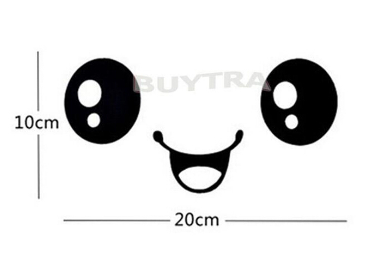 Hot Sales 2016 New Home Decor Wall Stricker Cute Cartoon Smiling Face Wall Bathroom Toilet Sticker Free Shipping