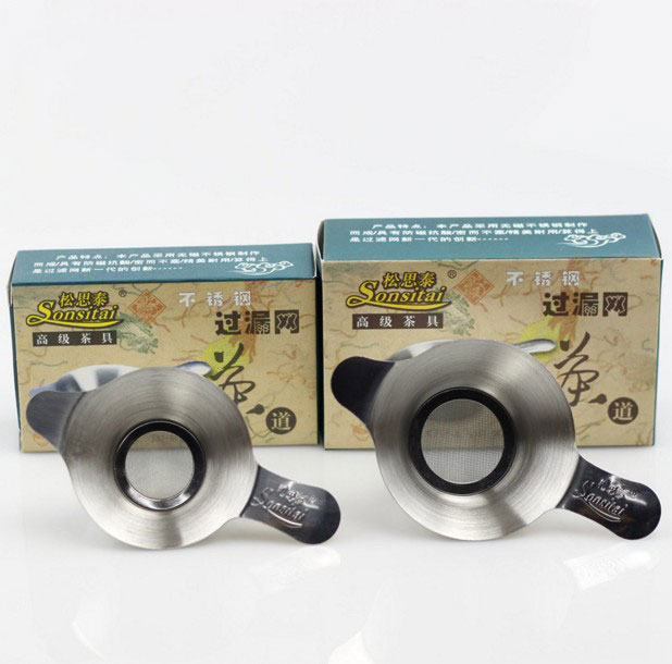 Двошарові приналежності для чаю з тонкого чайного ситечка з нержавіючої сталі