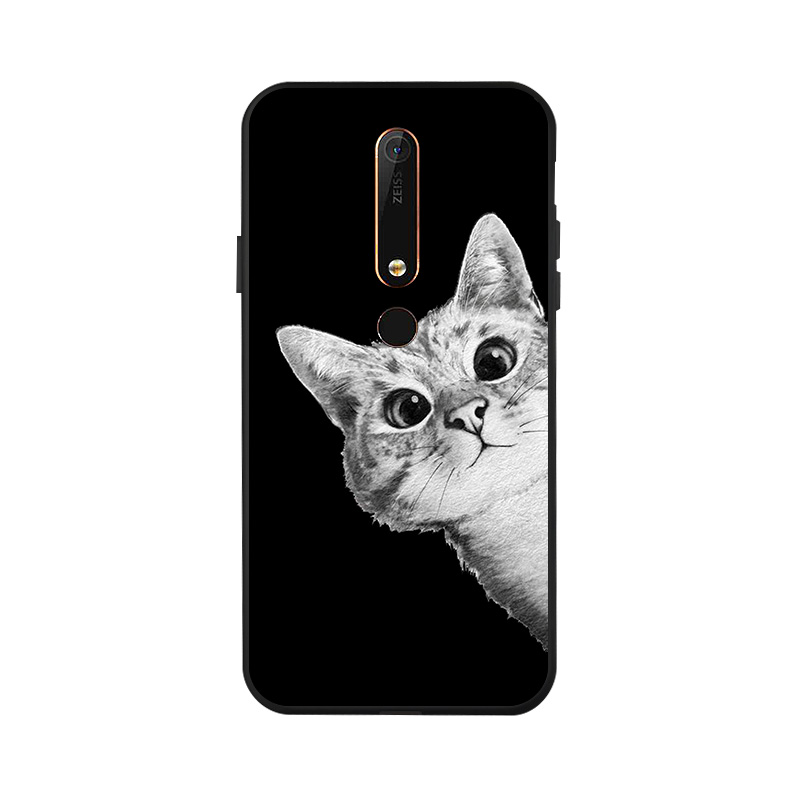 Ojeleye Fashion Black Silicon Case For Nokia 6 1 Cases Anti knock Phone Cover For Nokia 6 2018 Covers in Fitted Cases from Cellphones Telecommunications
