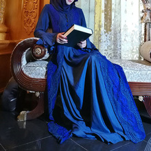 Muslim best-selling long gown sleeve dress fashionable lace color trumpet worship ethnic
