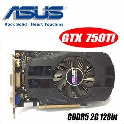 Asus GTX-750TI-OC-2GB GTX750TI GTX 750TI 2G D5 DDR5 128 бит ПК настольные видеокарты PCI Express 3,0 компьютер GTX 750