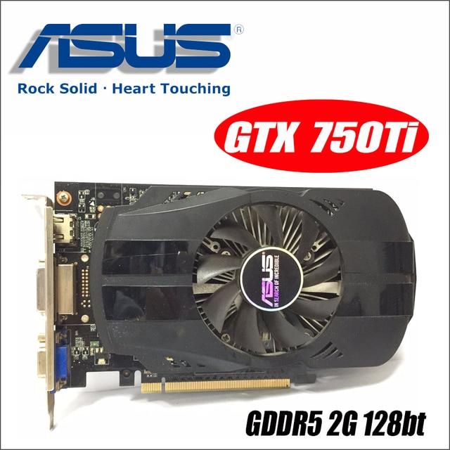 Asus GTX-750TI-OC-2GB GTX750TI GTX 750TI 2G D5 DDR5 128 Bit PC Desktop Graphics Cards PCI Express 3.0 computer GTX 750