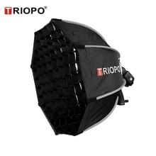 TRIOPO 65 سنتيمتر المثمن مظلة سوفتبوكس مع شبكة العسل ل Godox V860II TT600 TT685 YN560 III IV TR 988 فلاش لينة صندوق