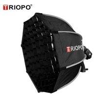 TRIOPO 65Cm Octagonร่มSoftboxกับตารางรังผึ้งสำหรับGodox V860II TT600 TT685 YN560 III IV TR 988 แฟลชกล่อง