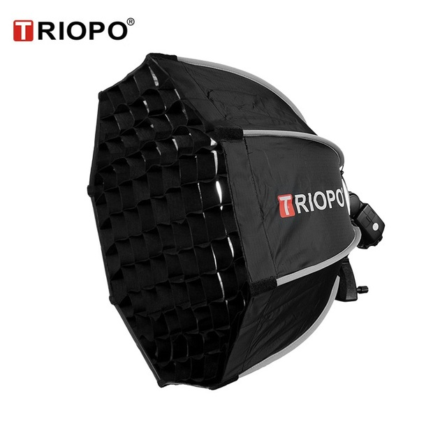 TRIOPO 65cm Octagon Umbrella Softbox with Honeycomb Grid For Godox V860II TT600 TT685 YN560 III IV TR-988 Flash Soft Box