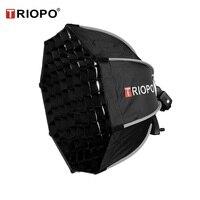 TRIOPO 65cm Octagon Umbrella Softbox with Honeycomb Grid For Godox Flash speedlite photography studio accessories soft Box
