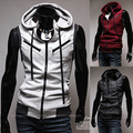 Vest male casual male with a hood vest hooded slim sleeveless vest male