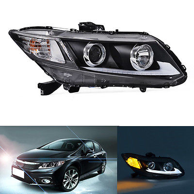 Right&Left Composite Headlight Lamp Assembly Retrofit For Honda Civic 2012-2015 right combination headlight assembly for lifan s4121200