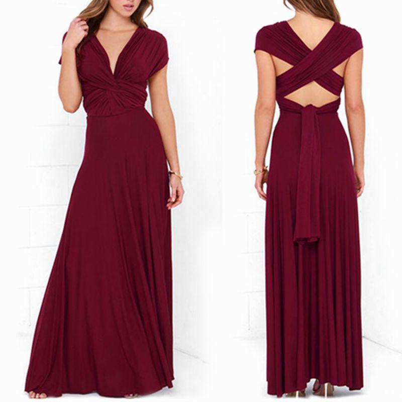 Dress Women 2018 Long Summer Convertible Bohemian Dresses Casual Bandage Evening Prom Club Party Infinity Multiway Maxi Dresses