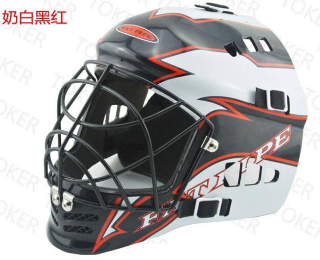 Top quality Hockey helmet Sports Safety helmets Speed skating sports helmet hat prince protective pu leather plastic case w stand and card slot for iphone 6 4 7 red