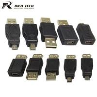 10pcs Set Full Set USB 2 0 Connector A Type Female Jack Male Plug 5 Pin