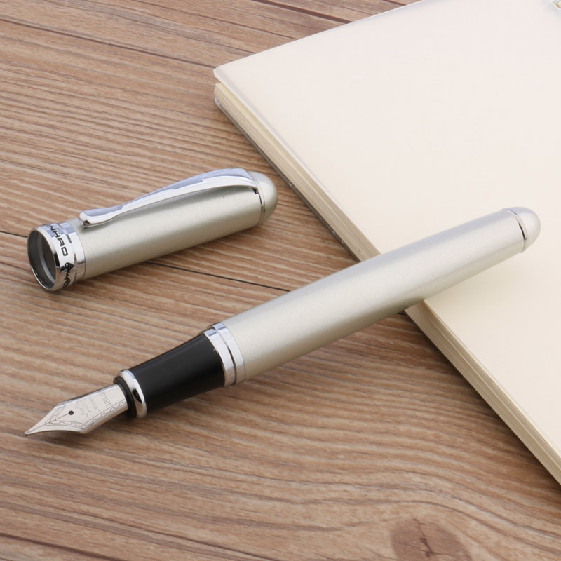 JINHAO X750 Silver Trim Writing Fountain Pen