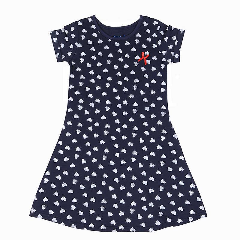 2018 الفتيات فستان 100% الصيف القطن طباعة المراهقين فساتين للبنات مصمم فستان حفلة للأميرات طفل ملابس حفلات للأطفال 1-13Y