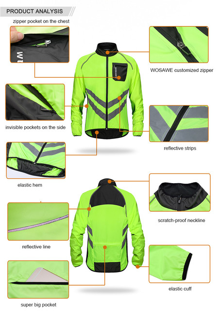 High Visibility MultiFunction Windproof Jacket