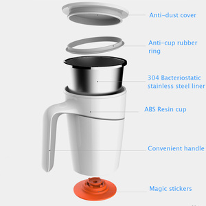 Image 3 - Original Xiaomi Fiu Non slip Sucker Pouring Cup 470ml 304 Stainless Stell ABS Double Insulation Cup
