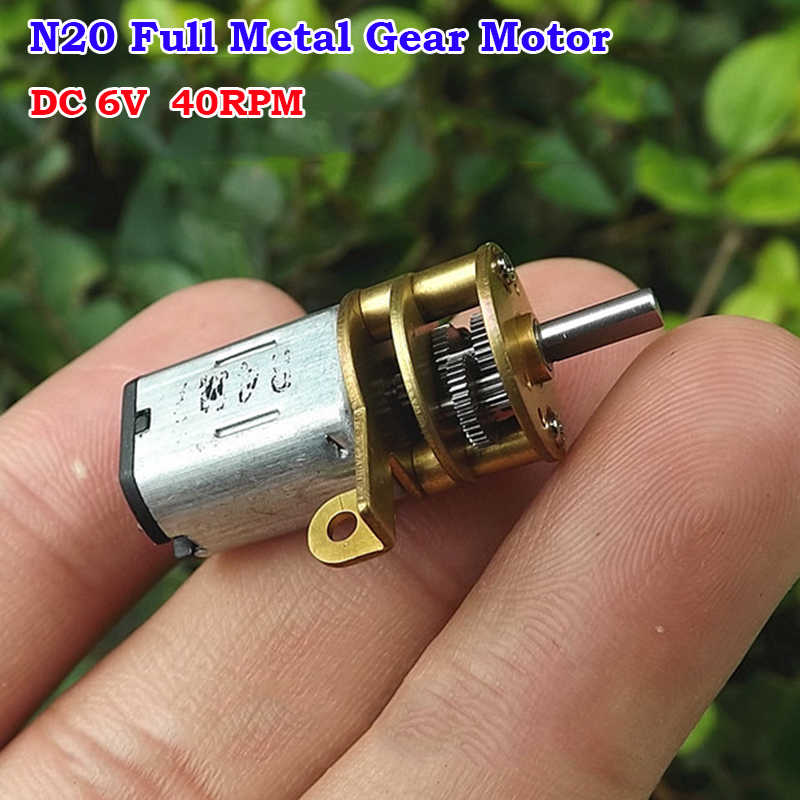 DC 3V 5V 6V 70RPM Slow Speed Mini N20 Full Metal Gear Motor DIY Car Robot Lock