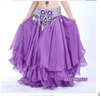 new BELLY DANCE TRIBAL GYPSY ATS RENAISSANCE PIRATE WENCH chiffon COSTUME large SKIRT dress dancewear 3 layer 14color new