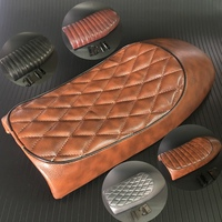 Brown Black Motorcycle Cafe Racer Seat Custom Vintage Hump Saddle Flat pan Retro Seat For Honda CB125S CB200 CB350 CL350 CB400