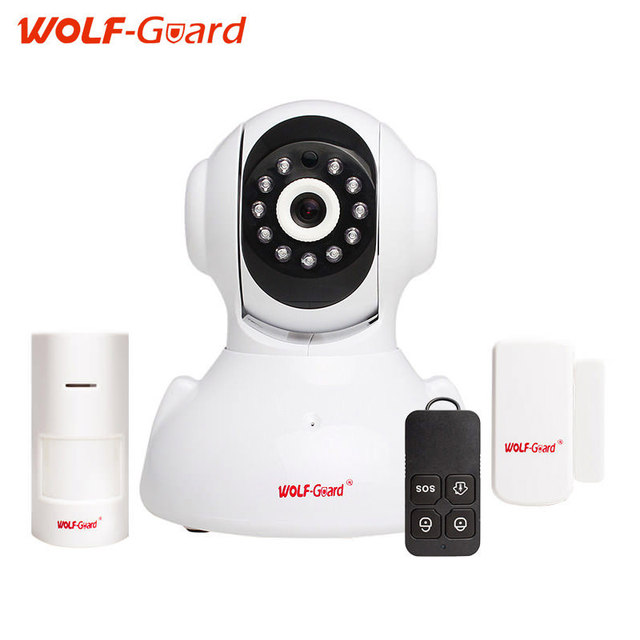 WOLF-Guard indoor 720P WIFI IP Camera Surveillance Monitoring Wireless IP HD Camera Two Way Audio Night Vision Linkage alarm