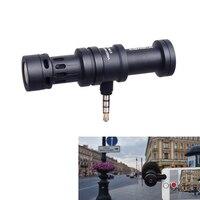 Commlite Full Metal Cardioid Directional Condenser Shotgun Video Microphone Mic for Smartphone iPad iPhone 7 6S 6S 5