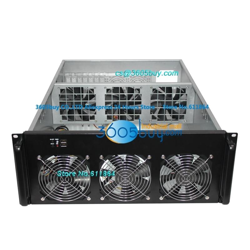 Châssis d'ethernet 4U, châssis multi de GPU de châssis de carte vidéo 6, OEM multi de soutien de boîte de carte vidéo, personnalisation d'odm nouveau