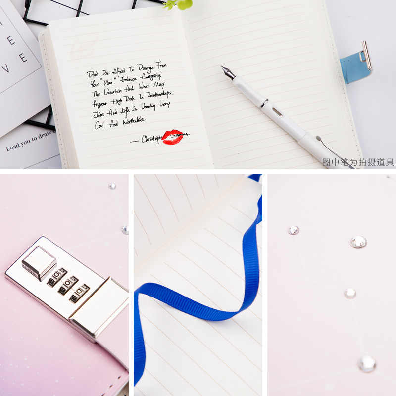 photo about May Books Planner known as Kawaii B6 Laptop computer Fixed PU Inventive Lovely Constellation Planner Dividers Code Lock Notice Textbooks Person Generate Magazine Diary Guide