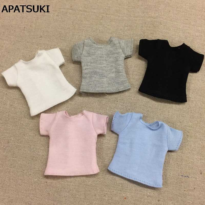Однотонная кукольная футболка для куклы блайз Базовая рубашка верхняя одежда для Azone Momoko кукольная одежда 1/6 кукольные аксессуары
