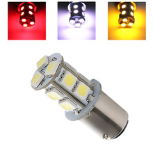 цена на 1157 BAY15D 13 SMD 5050 Amber,White,Red p21/5w Yellow LED Bulbs Lamp Auto rear brake Lights Car Light Source parking 12V