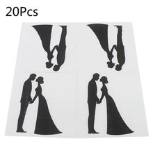 Disposable Paper Napkins Tableware Supply Printed Square Tissue wedding lovers Pattern Party Festive Celebration 20 Pieces