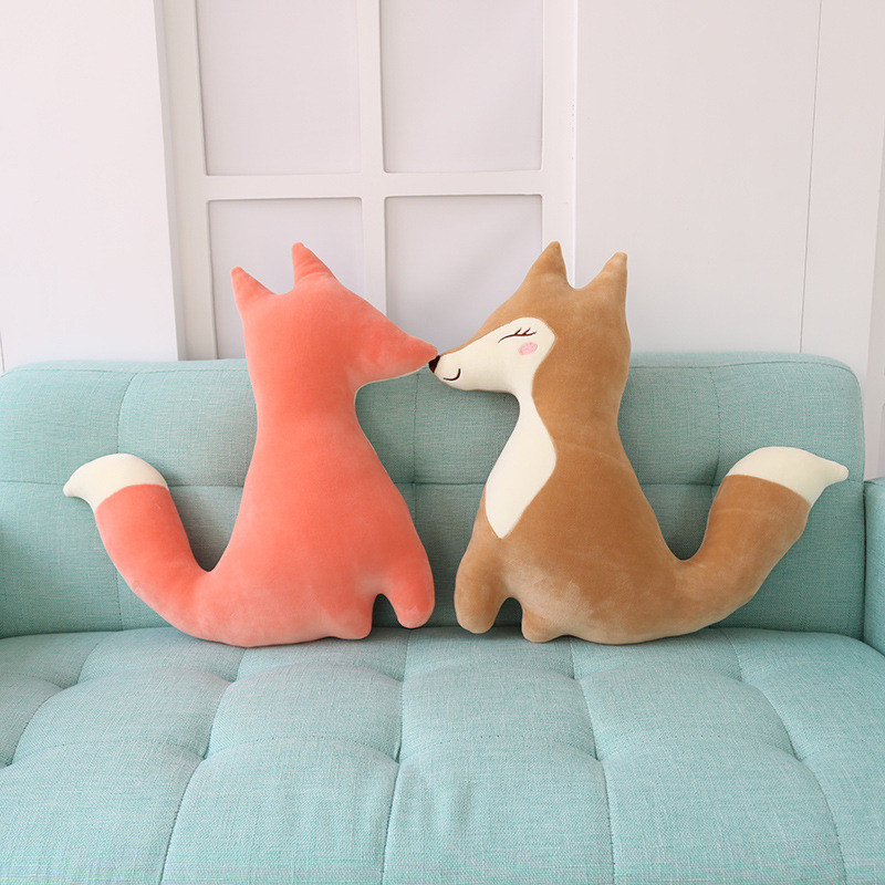 1PC 43cm Baby Stuffed Plush Cartoon Fox Soft Pillow Dolls for Kids Birthday Gifts Children Products Cute Toys Cushion Decoration