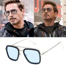 tony stark sunglasses Brand Square sunglasses men Avengers T