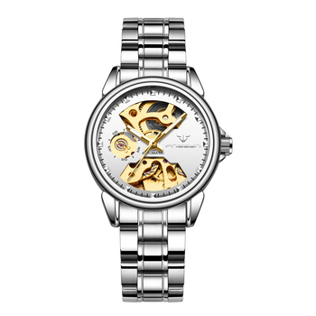 FNGEEN Women's Mechanical Skeleton Luxury Waterproof Female Automatic Watches 4