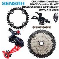 SENSAH CRX 11 Speed Trigger Shifter + Rear Derailleur 11s + ZRACE Cassette11 46T/Chainring +SUMC X11 Chain, PCR BEYOND M7000 Kit