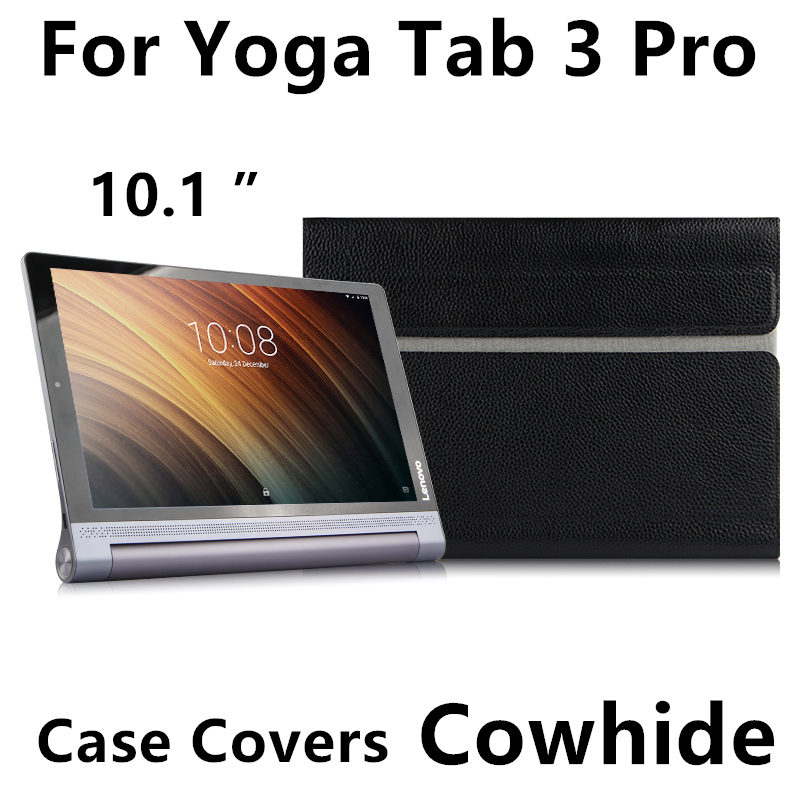 Case Cowhide For Lenovo Yoga Tab 3 Pro 10Protective Smart Cover Genuine Leather Tablet YT3-X90F X90L X90M 10.1 Protector Sleeve ultra slim soft silicon case for 10 1 inch lenovo yoga tab 3 pro 10 x90m x90l case for lenovo yoga tab 3 plus yt x703f