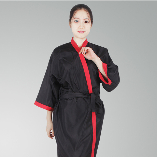 Waterproof Salon Client Gown Hairdressing Gowns Kimono Style Long ...